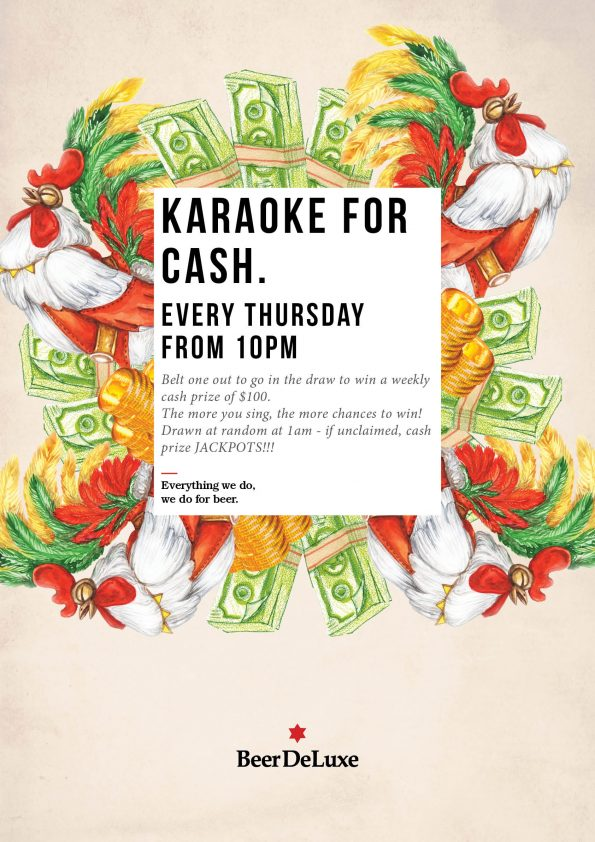 Karaoke for Cash - Beer Deluxe