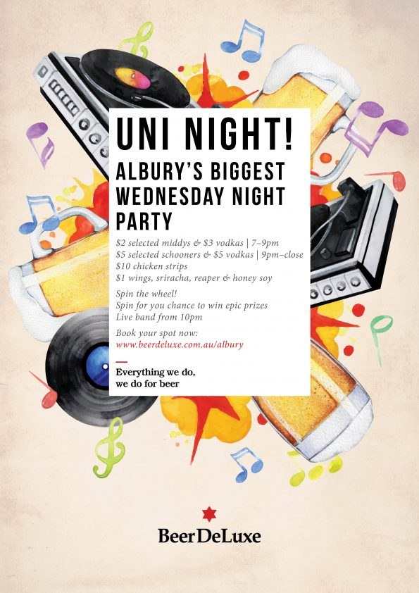 Uni Night at Beer DeLuxe Albury