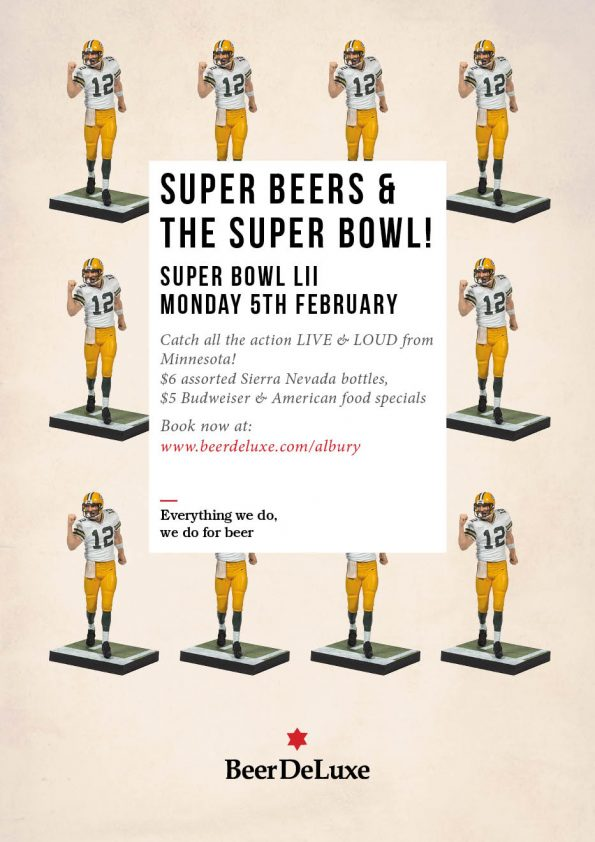 Super Bowl at Beer DeLuxe Albury