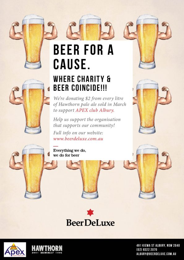 Beer For a Cause - Apex - Beer Deluxe Fed Square