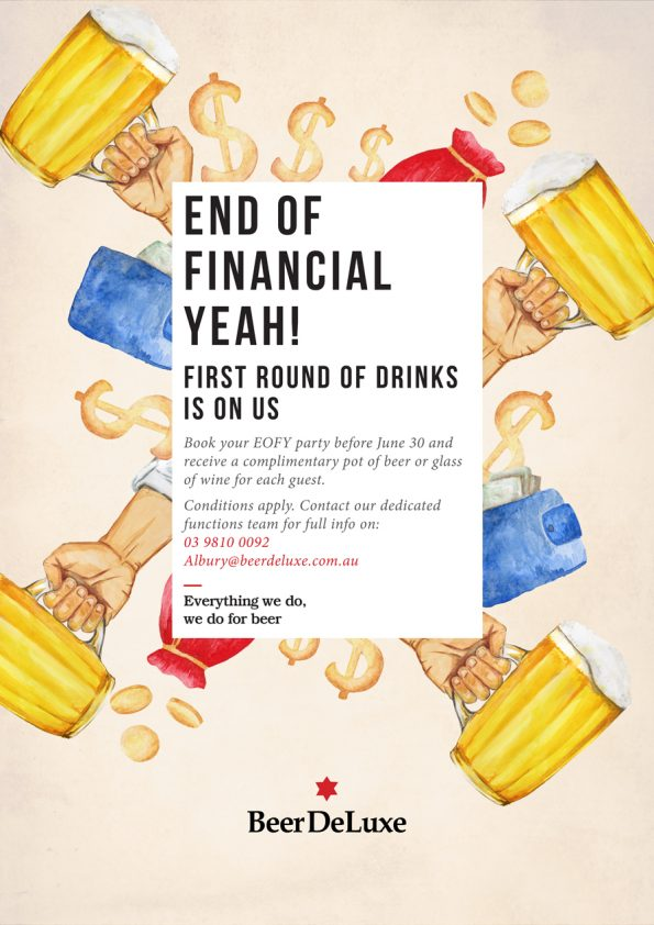 End of Financial Year - Beer Deluxe
