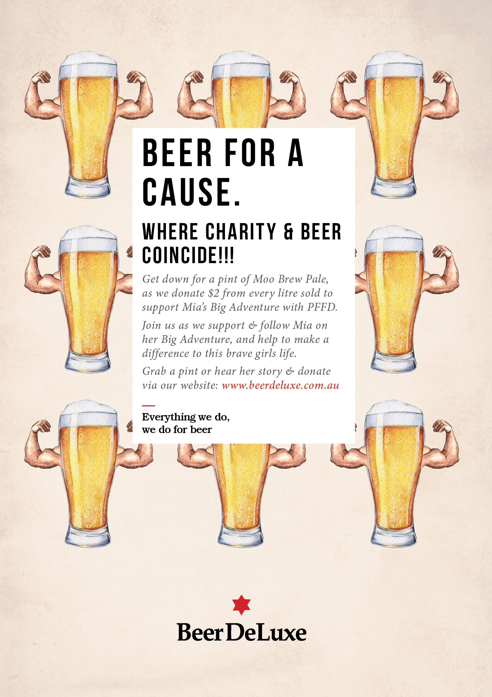 Beer for A Cause - Mia's Big Adventure