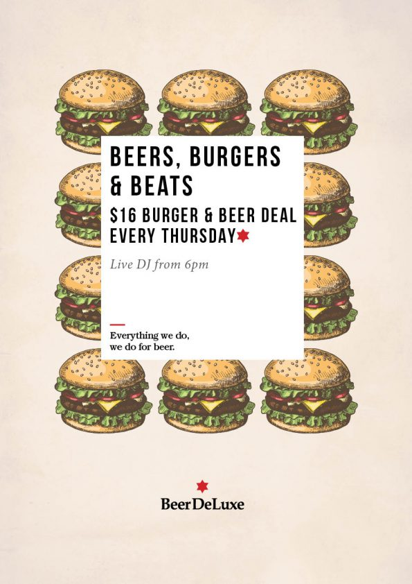 Thursday Special $16 Burger & Beer at Beer Deluxe Fed Square