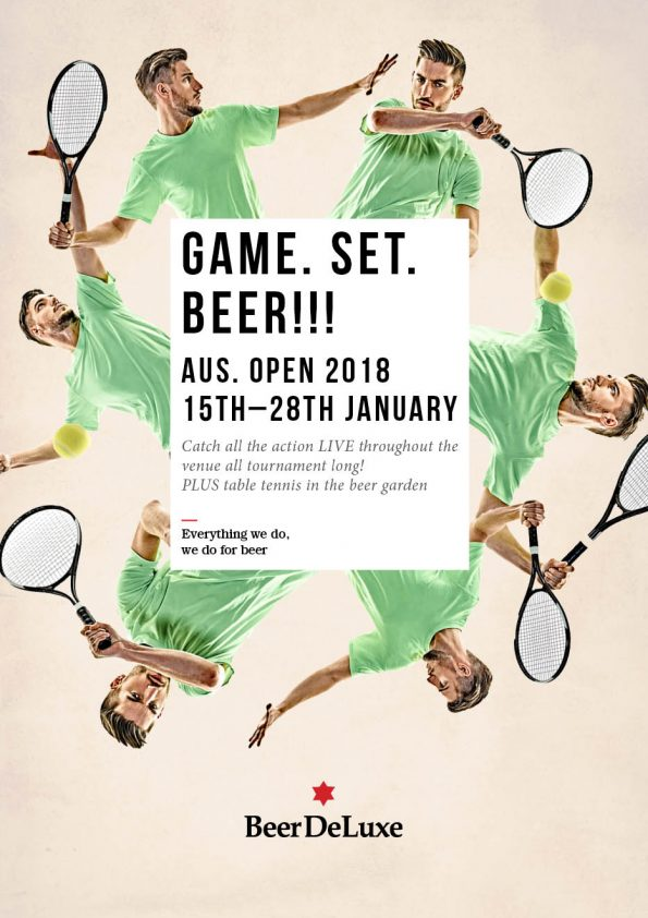 Australian Open at Beer DeLuxe Fed Square
