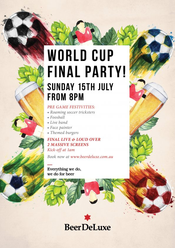 World Cup Final Party at Beer DeLuxe Fed Square