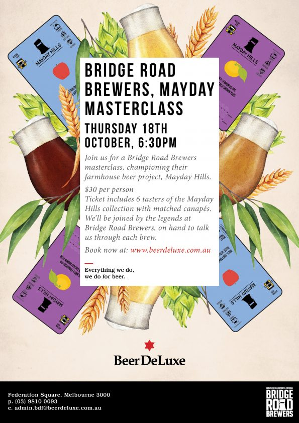 May Day Masterclass - Bridge Road Brewery