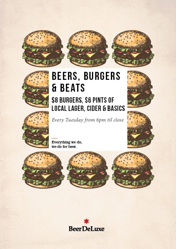 Tuesday Burger night Beer DeLuxe Hawthorn