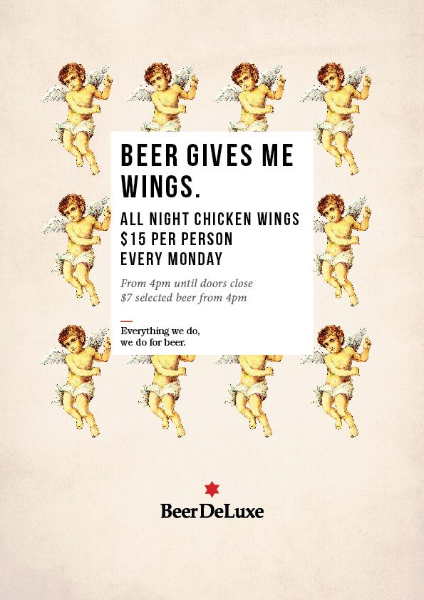 Beer gives me wings Beer Deluxe Hawthorn
