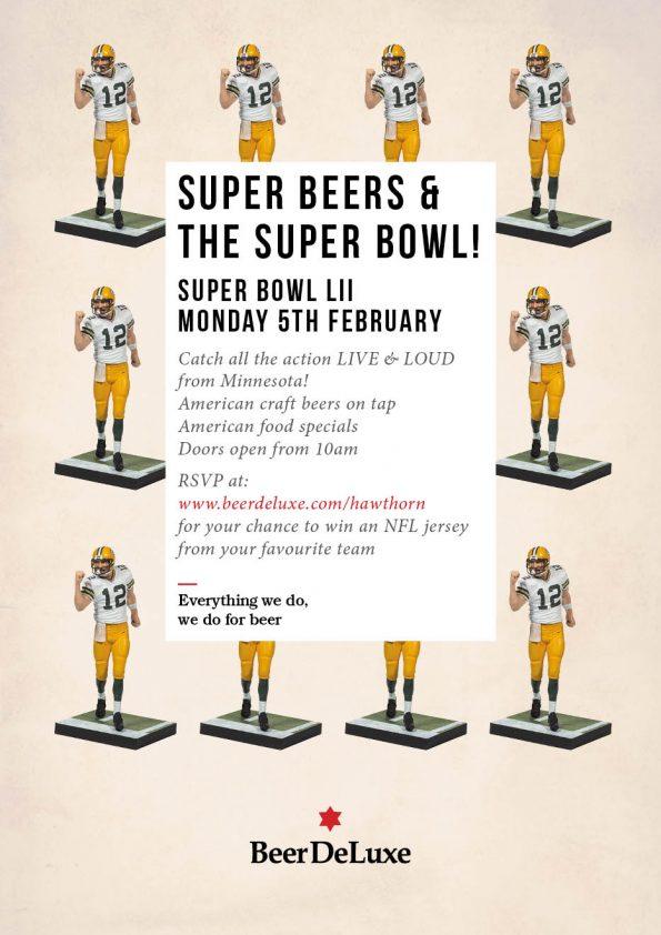 Super Bowl Beer DeLuxe Hawthorn