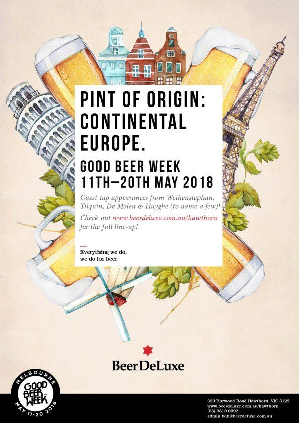 Continental Europe Pint of Origin Good Beer Week
