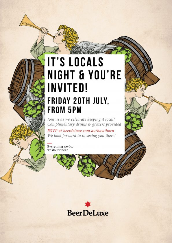 Locals Launch night at Beer Deluxe Hawthourn