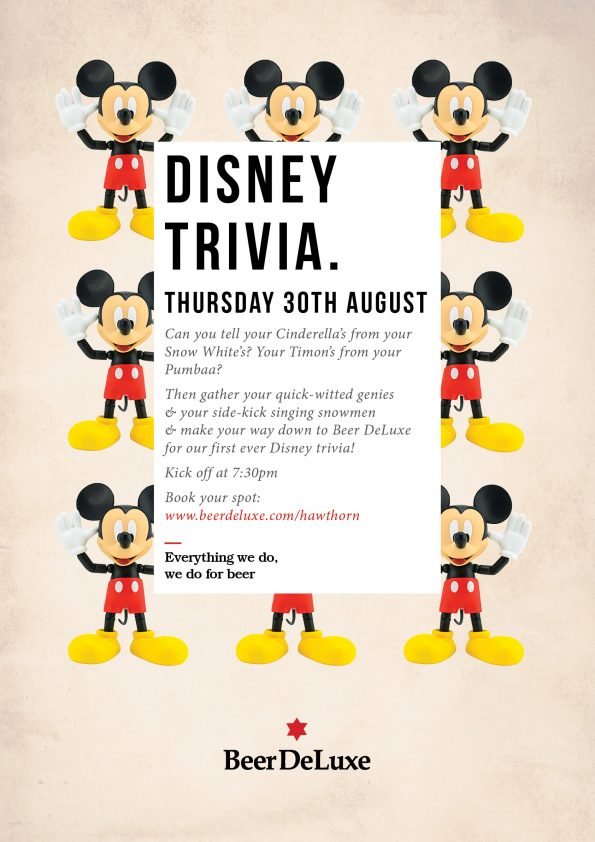 Disney Trivia at Beer DeLuxe Hawthorn