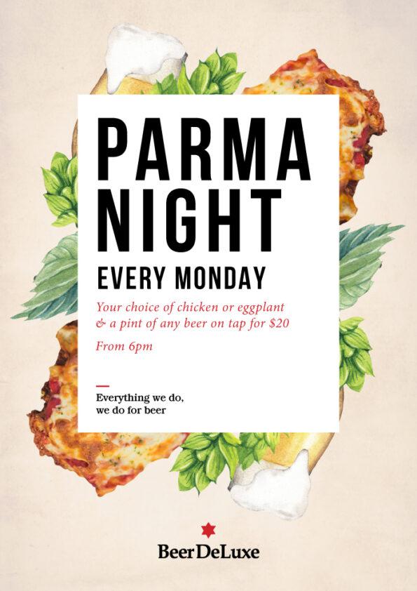 Parma Night, Every Monday